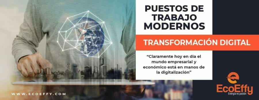 transformación digital y puestos de trabajo modernos